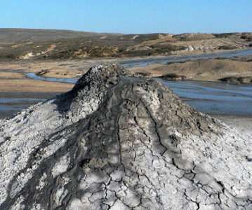 Грязевой вулкан Джау-Тепе — уникальная форма рельефа Керченского полуострова